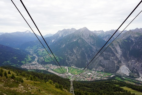 The cable-car that took us all the way up!